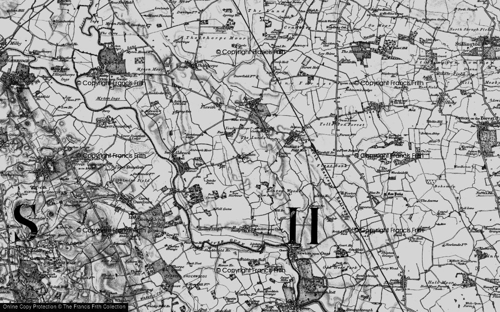 Old Map of Historic Map covering Linton Woods in 1898