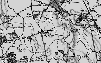 Old map of Youlton Moor in 1898
