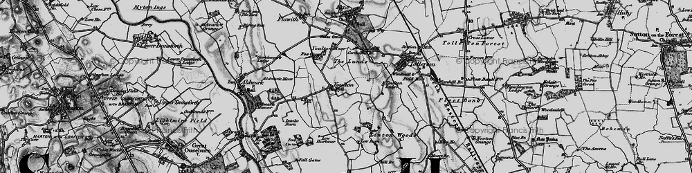 Old map of Youlton in 1898