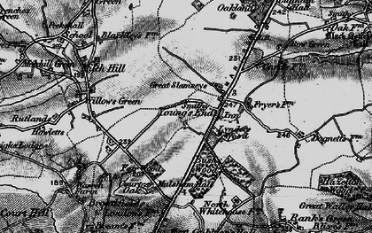 Old map of Young's End in 1896