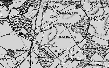 Old map of Austacre Wood in 1899