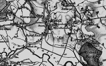 Old map of Yoxall in 1898