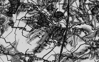 Old map of Yoxford in 1898