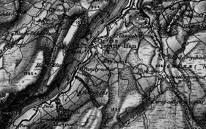 Old map of Ysbyty Ifan in 1899