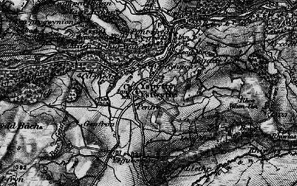 Old map of Ysbyty Ystwyth in 1898