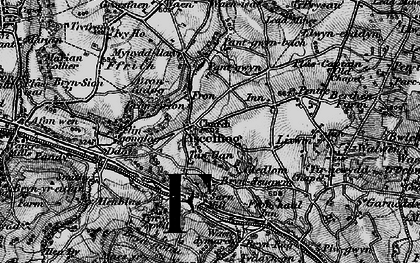 Old map of Ysceifiog in 1896