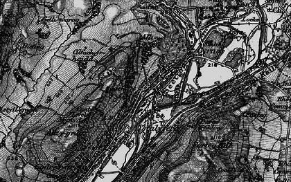 Old map of Ystalyfera in 1898