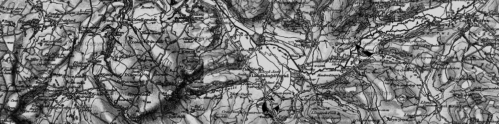 Old map of Allt y Fron in 1898