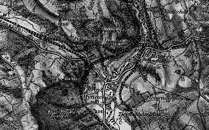 Old map of Ystrad Mynach in 1897