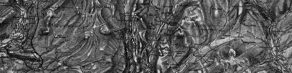 Old map of Ystradfellte in 1898