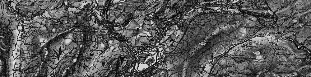 Old map of Ystradgynlais in 1898