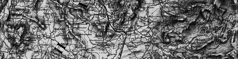 Old map of Afon Meurig in 1898