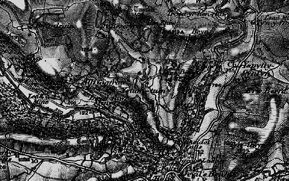 Old map of Allt-y-Gigfran in 1899