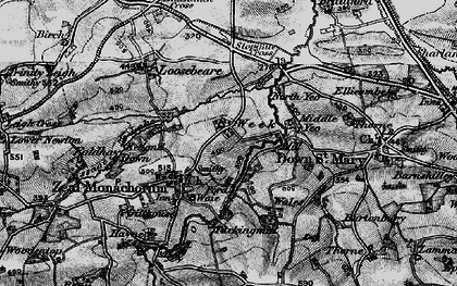 Old map of Zeal Monachorum in 1898