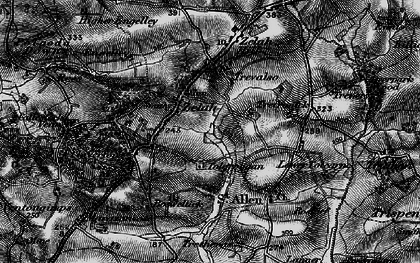 Old map of Zelah Hill in 1895