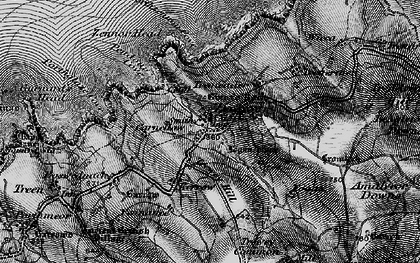 Old map of Zennor in 1896