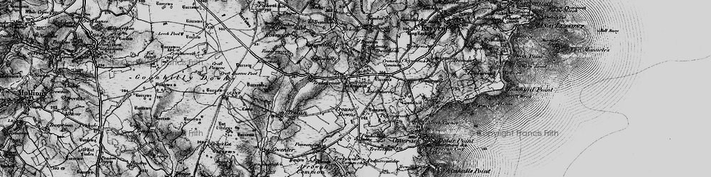 Old map of Zoar in 1895