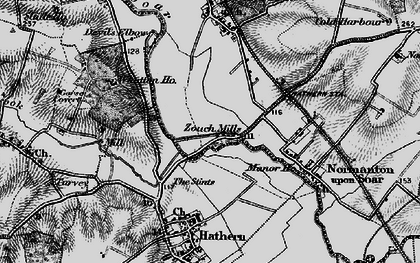 Old map of Whatton Ho in 1895